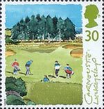 Scottish Golf Courses 30p Stamp (1994) The 15th Hole ('Luckyslap'), Carnoustie