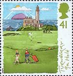 Scottish Golf Courses 41p Stamp (1994) The 9th Hole, Turnberry