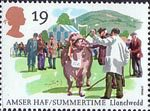 The Four Seasons. Summertime Events 19p Stamp (1994) Royal Welsh Show, Llanelwedd
