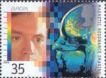 Europa. Medical Discoveries 35p Stamp (1994) Magnetic Resonance Imaging