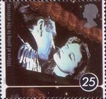 100 Years of going to the pictures - A Cinema Celebration 25p Stamp (1996) Laurence Olivier and Vivien Leigh in Lady Hamilton (film)