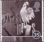 100 Years of going to the pictures - A Cinema Celebration 35p Stamp (1996) Pathe News Still