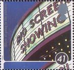 100 Years of going to the pictures - A Cinema Celebration 41p Stamp (1996) Cinema Sign, The Odeon Manchester