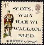 Robert Burns - The Immortal Memory 41p Stamp (1996) 'Scots, wha haw wi Wallace bled' and Sir William Wallace