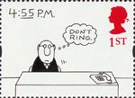 Greetings Stamps. Cartoons 1st Stamp (1996) '4:55 P.M.' (Charles Barsotti)