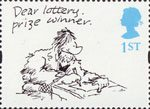 Greetings Stamps. Cartoons 1st Stamp (1996) 'Dear lottery prize winner' (Larry)