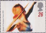 Swifter, Higher, Stronger - Olympic and Paralympic Games, Atlanta 26p Stamp (1996) Throwing the Javelin