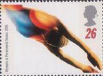 Swifter, Higher, Stronger - Olympic and Paralympic Games, Atlanta 26p Stamp (1996) Swimming