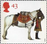 All The Queens Horses 43p Stamp (1997) Household Cavalry Drum Horse and Drummer