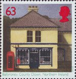 Post Offices 63p Stamp (1997) Ballyroney, County Down