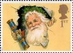 Christmas 1997 1st Stamp (1997) Father Christmas with Traditional Cracker