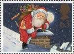 Christmas 1997 63p Stamp (1997) Father Christmas and Chimney