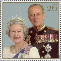 The Golden Wedding Anniversary 1947-1997 26p Stamp (1997) Queen Elizabeth II and Prince Philip, 1997