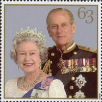 The Golden Wedding Anniversary 1947-1997 63p Stamp (1997) Queen Elizabeth II and Prince Philip, 1997