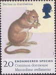 Endangered Species 20p Stamp (1998) Common Dormouse