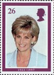 Diana, Princess of Wales Commemoration 26p Stamp (1998) At British Lung Foundation Function, April 1997 (photo by John Sitwell)