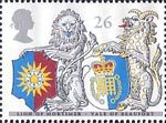 The Queens Beasts 26p Stamp (1998) Lion of Mortimer and Yale of Beaufort