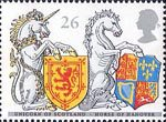 The Queens Beasts 26p Stamp (1998) Unicorn of Scotland and Horse of Hanover