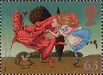 Magical Worlds 63p Stamp (1998) Through The Looking Glass (Lewis Carroll)