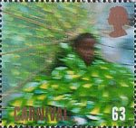 Carnival 63p Stamp (1998) Child in 'Tree' Costume