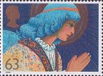 Christmas 1998 63p Stamp (1998) Angel praying