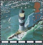 Lighthouses 37p Stamp (1998) Needles Rock Lighthouse, Isle of Wight, c 1900