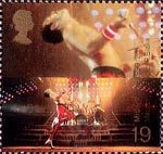 Millennium Series. The Entertainers' Tale 19p Stamp (1999) Freddie Mercury (lead singer of Queen) ('Popular Music')