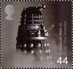 Millennium Series. The Entertainers' Tale 44p Stamp (1999) Dalek from Dr Who (science-fiction series) ('Television')