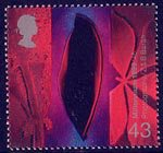 Millennium Series. The Inventors' Tale 43p Stamp (1999) Early Photos of Leaves (Henry Fox-Talbot's photographic experiments)