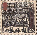 Millennium Series. The Travellers' Tale 43p Stamp (1999) Victorian Railway Station (Growth of public transport)