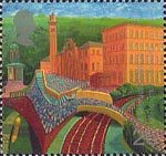 Millennium Series. The Workers' Tale 26p Stamp (1999) Salts Mill, Salthire (worsted cloth industry)
