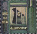 Millennium Series. The Citizens' Tale 19p Stamp (1999) Suffragette behind Prison Window ('Equal Rights for Women')