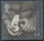 Farmers Tale 44p Stamp (1999) Man peeling Potato (Food Imports)
