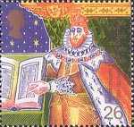 Christians' Tale 26p Stamp (1999) King James I and Bible (Authorised Version of Bible)