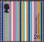Millennium Series. The Artists' Tale 26p Stamp (1999) World of Music (Bridget Riley)