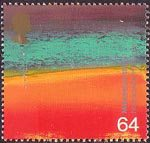 Millennium Series. The Artists' Tale 64p Stamp (1999) New Worlds (Sir Howard Hodgkin)