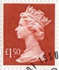 High Value Definitive £1.50 Stamp (1999) Red
