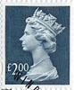 High Value Definitive £2 Stamp (1999) Dull Blue