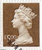 High Value Definitive £5 Stamp (1999) Brown