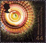 Millennium Series. The Scientists' Tale 44p Stamp (1999) Rotation of Polarized Light by Magnetism (Faraday's work on electricity)