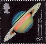 Millennium Series. The Scientists' Tale 64p Stamp (1999) Saturn (development of astronomical telescopes)
