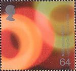 Millennium Projects (2nd Series). 'Fire and Light' 64p Stamp (2000) Multicoloured Lights (Lighting Croydon's Skyline)