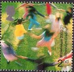 Millennium Projects (6th Series). 'People and Places' 2nd Stamp (2000) Children playing (Millennium Greens Project)
