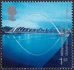 Millennium Projects (6th Series). 'People and Places' 1st Stamp (2000) Millennium Bridge, Gateshead