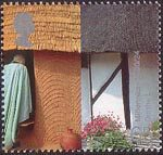 Millennium Projects (6th Series). 'People and Places' 65p Stamp (2000) African Hut and Thatched Cottage (On the Meridian Line Project)
