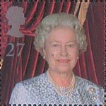 Queen Elizabeth the Queen Mother's 100th Birthday 27p Stamp (2000) Queen Elizabeth II