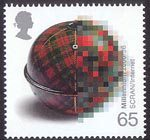 Millennium Projects (9th Series). 'Mind and Matter' 65p Stamp (2000) Tartan Wool Holder (Scottish Cultural Resources Access Network)
