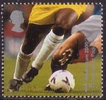 Millennium Projects (10th Series). 'Body and Bone' 1st Stamp (2000) Football Players (Hampden Park, Glasgow)