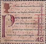Millennium Projects (11th Series). 'Spirit and Faith' 45p Stamp (2000) 12th-century Latin Gradual (St. Patrick Centre, Downpatrick)
