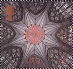 Millennium Projects (11th Series). 'Spirit and Faith' 65p Stamp (2000) Chapter House Ceiling, York Minster (York Milennium Mystery Plays)